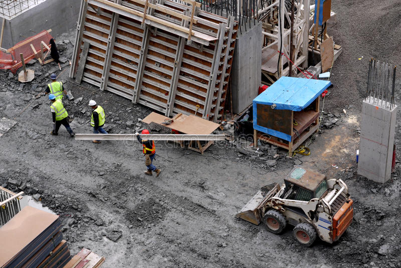 Download Construction site stock image. Image of vest, girder - 25355451