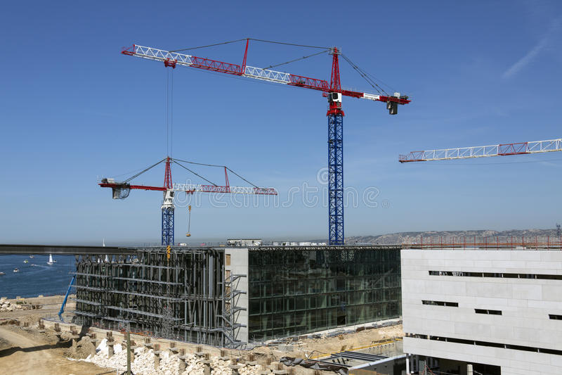 Download Construction Site stock image. Image of cranes, marseille - 26636617