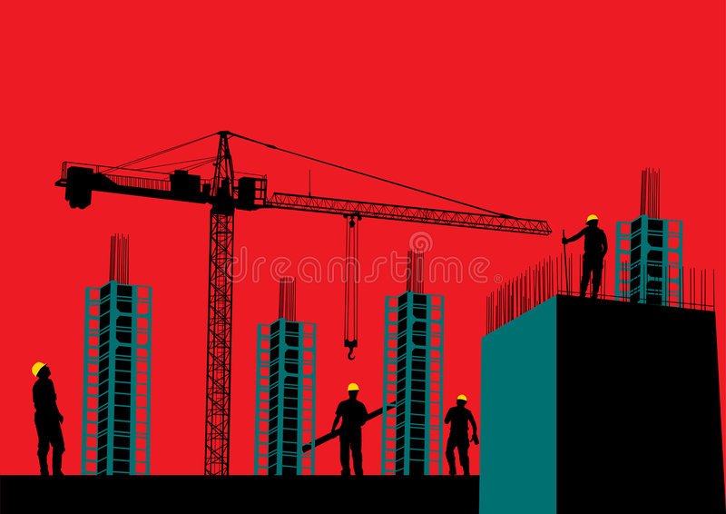 Download Construction site stock vector. Image of back, scaffolding - 2929599