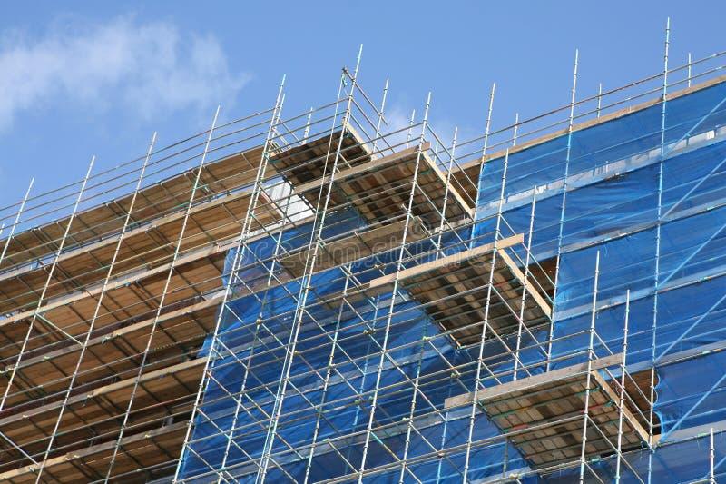 Download Construction Site stock image. Image of blue, rails, apartment - 3539943