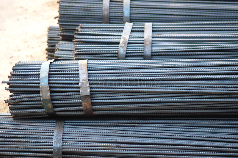 Construction Site. Construction steel bars on the construction site stock image