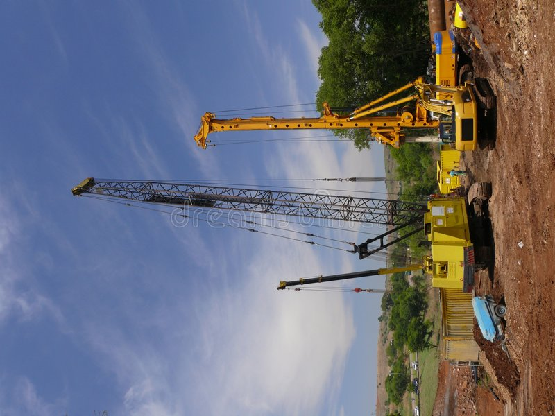 Download Construction site stock image. Image of drilling, cloud - 7589517