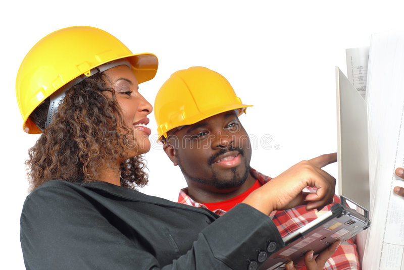 On construction site stock photo