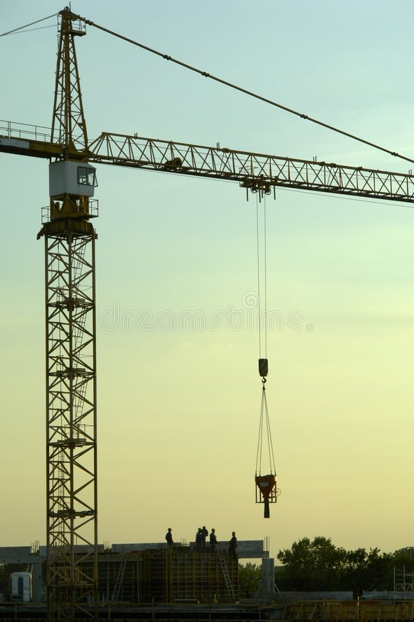 Construction site. Residential construction site in Warsaw. After joining the EU Polish capital experienced a construction boom royalty free stock photos