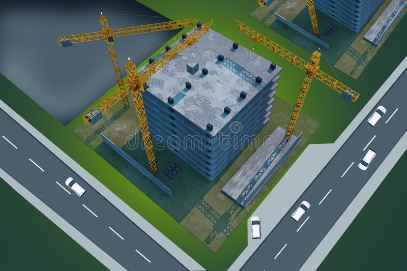 Download Construction Site From Above Stock Illustration - Image: 36929429