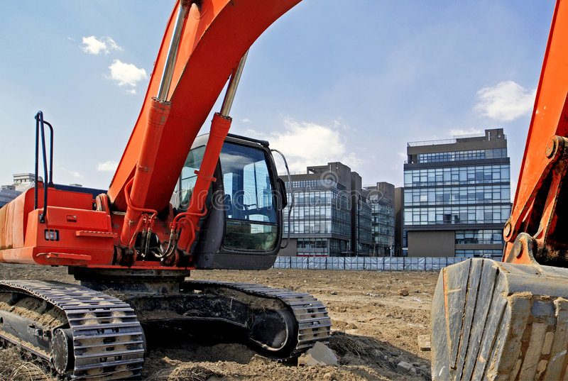 Construction site in Beijing. royalty free stock images