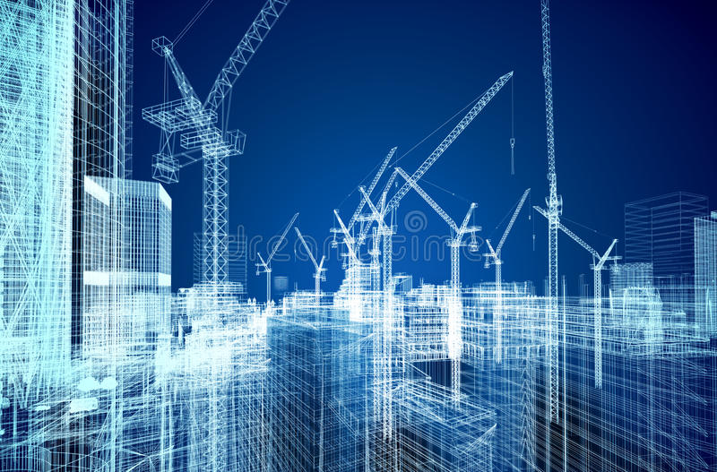 Download Construction Site Blueprint Stock Illustration - Image: 26948071