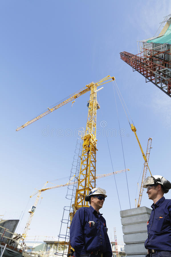 Download Construction Site And Building Workers Stock Photo - Image: 23459320