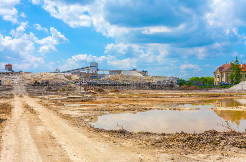 Download Construction Site With Cloudy Sky Stock Photo - Image: 83706620