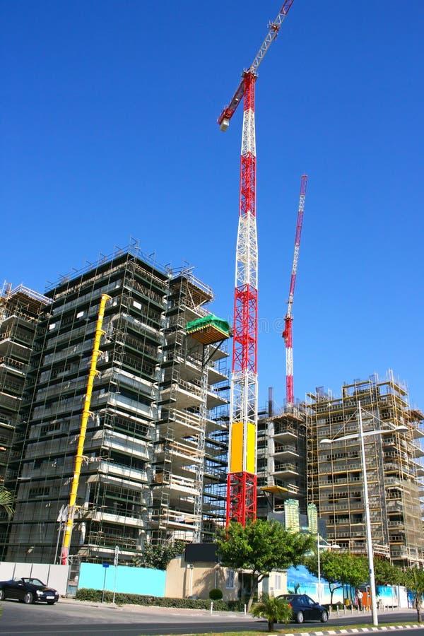 Construction site and crane stock photo