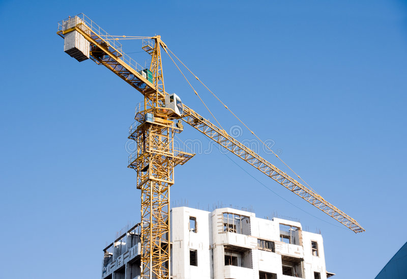 Construction Site Crane Stock Photo