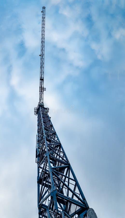 Construction crane against the sky royalty free stock photos