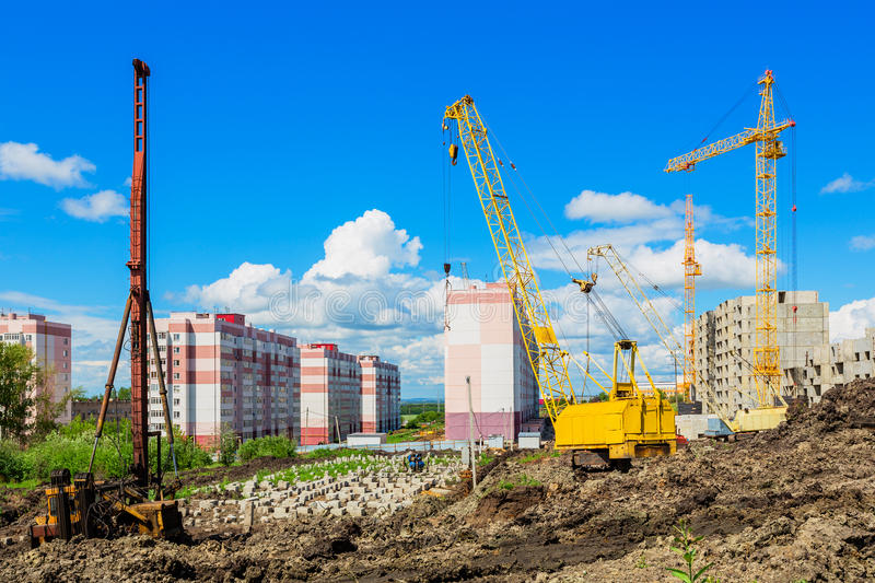 Download Construction site stock image. Image of blue, heavy, equipment - 31768477