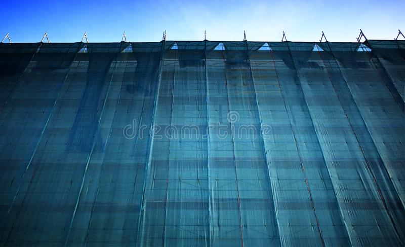 Construction site curtain object background hd royalty free stock photography