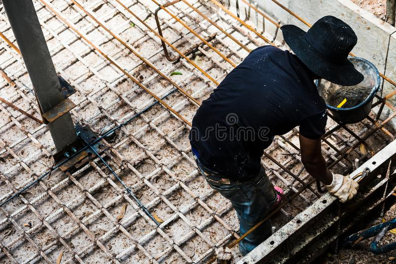 Construction site. Dangerous area and Top View concept. royalty free stock images