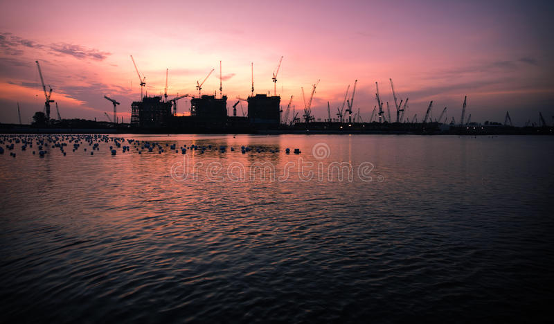 Download Construction site at dawn stock image. Image of build - 10314759