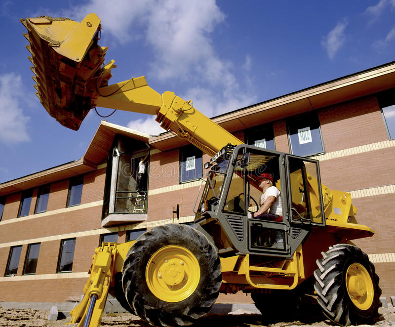 Download Construction Site Digger editorial stock photo. Image of plant - 17824618