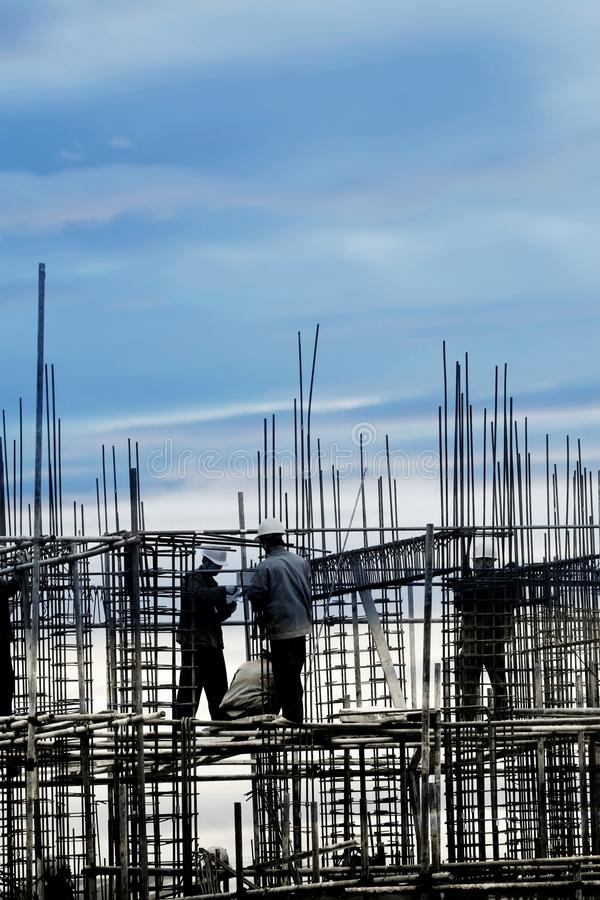 Download Construction Site In The Dusk Stock Image - Image of scaffolding, black: 18061553