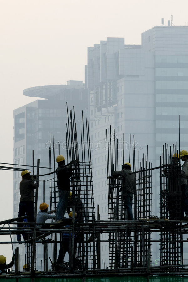 Download Construction Site at dusk stock photo. Image of rest, heavy - 4807396