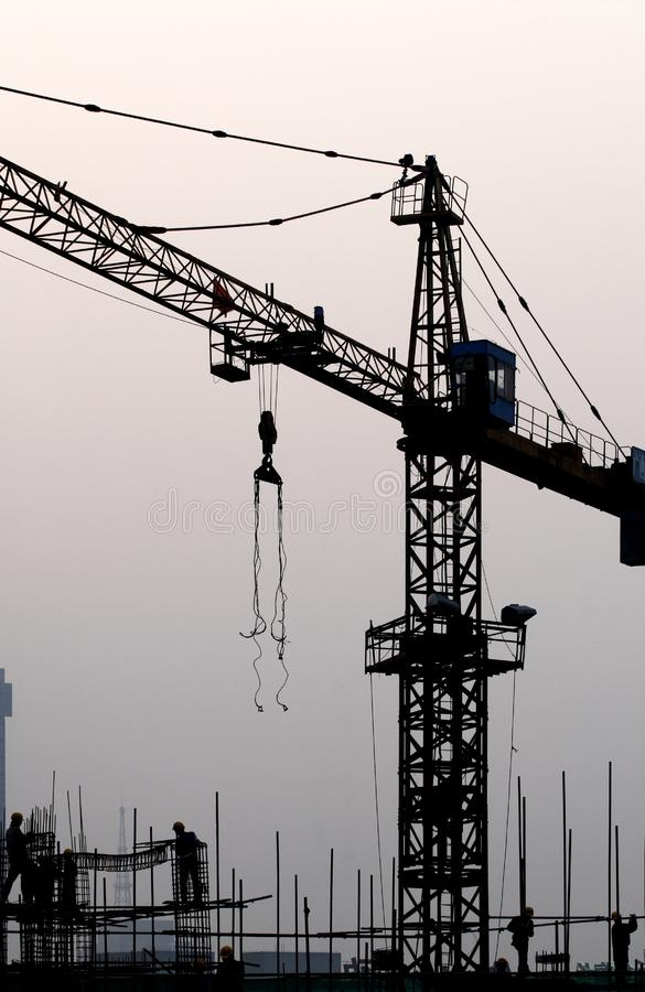 Construction Site at dusk. royalty free stock images
