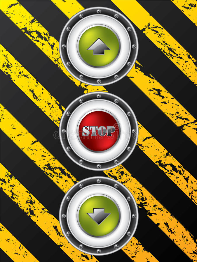 Construction site elevator buttons royalty free illustration