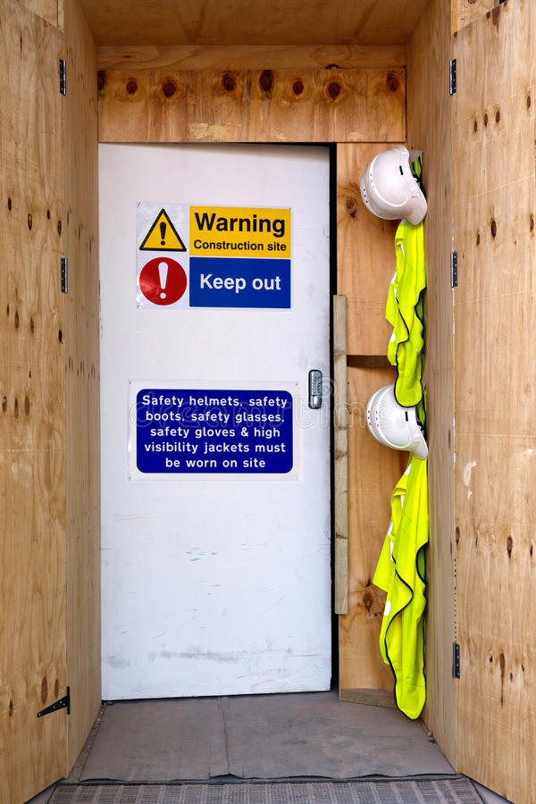 Download Construction Site Entrance Safety Notices Stock Photo - Image: 22681596