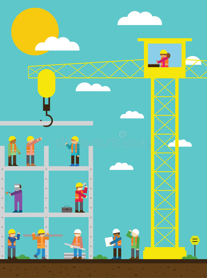 Construction Site royalty free illustration