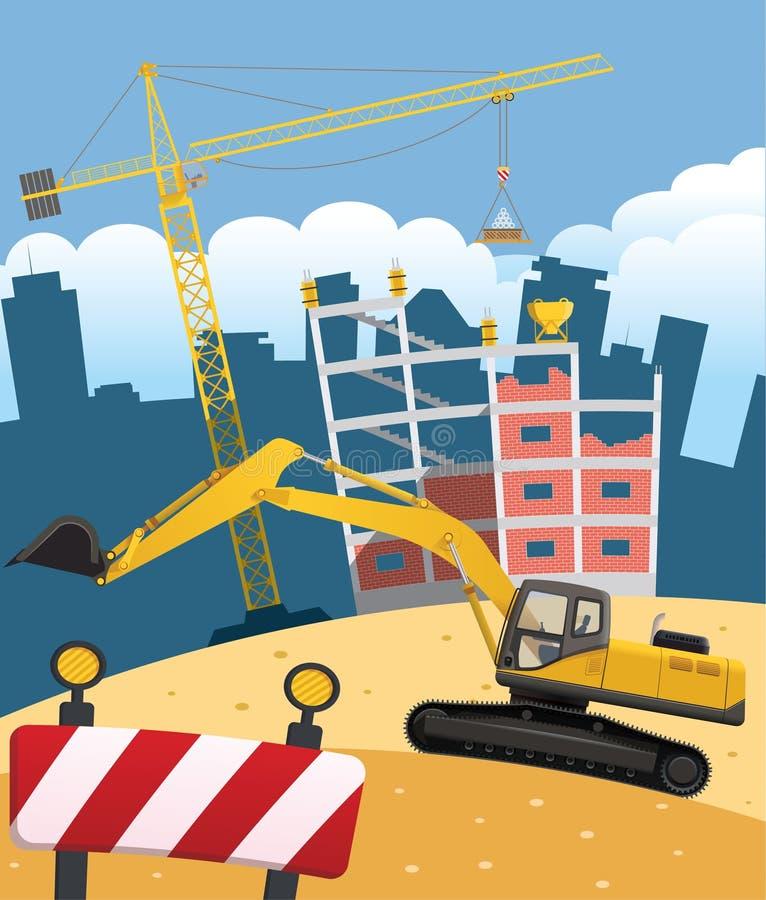 Construction site. Flat illustration a stock illustration