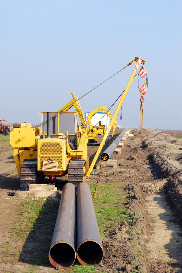 Download Construction Site With Gas Pipeline Stock Image - Image: 16597411