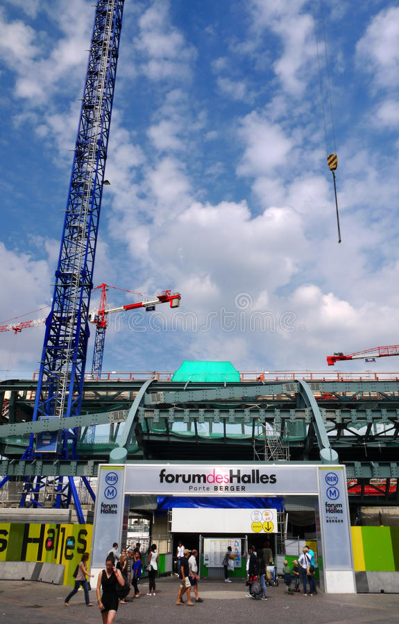 Download Construction Site At Les Halles, Paris, France. Editorial Photography - Image of renovation, mordernisation: 33484847