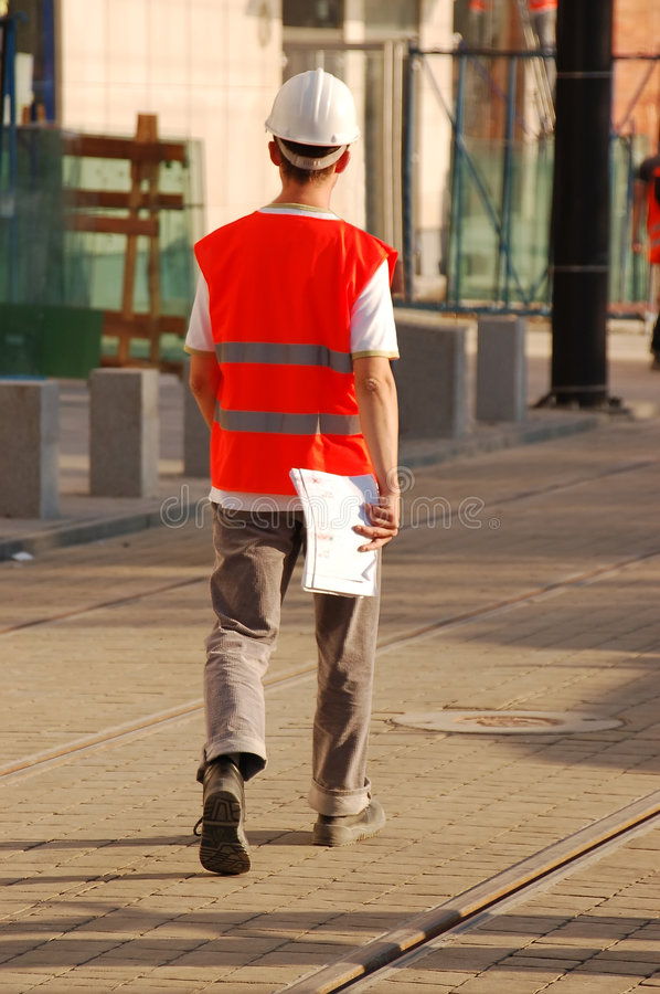 Construction site manager royalty free stock photography