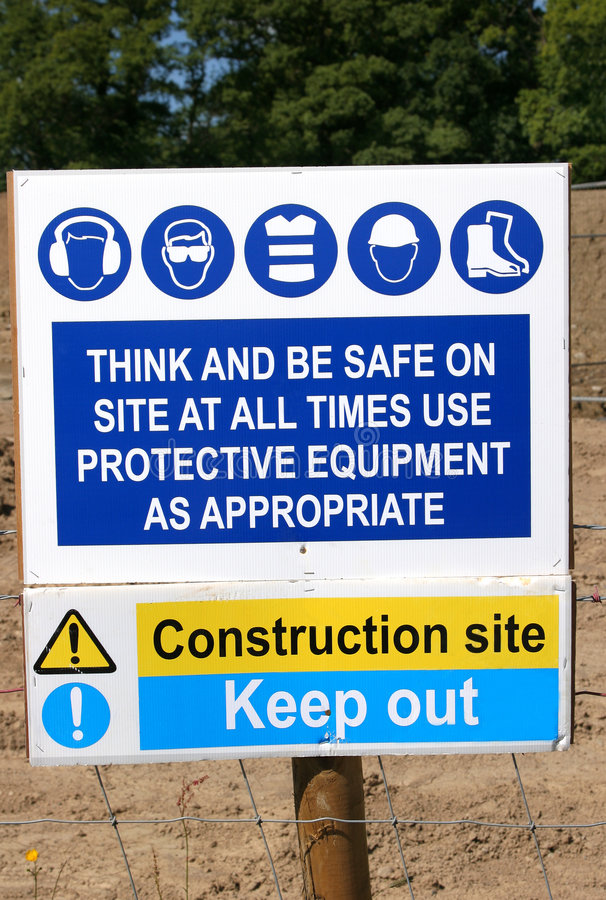 Construction Site Rules Stock Photography