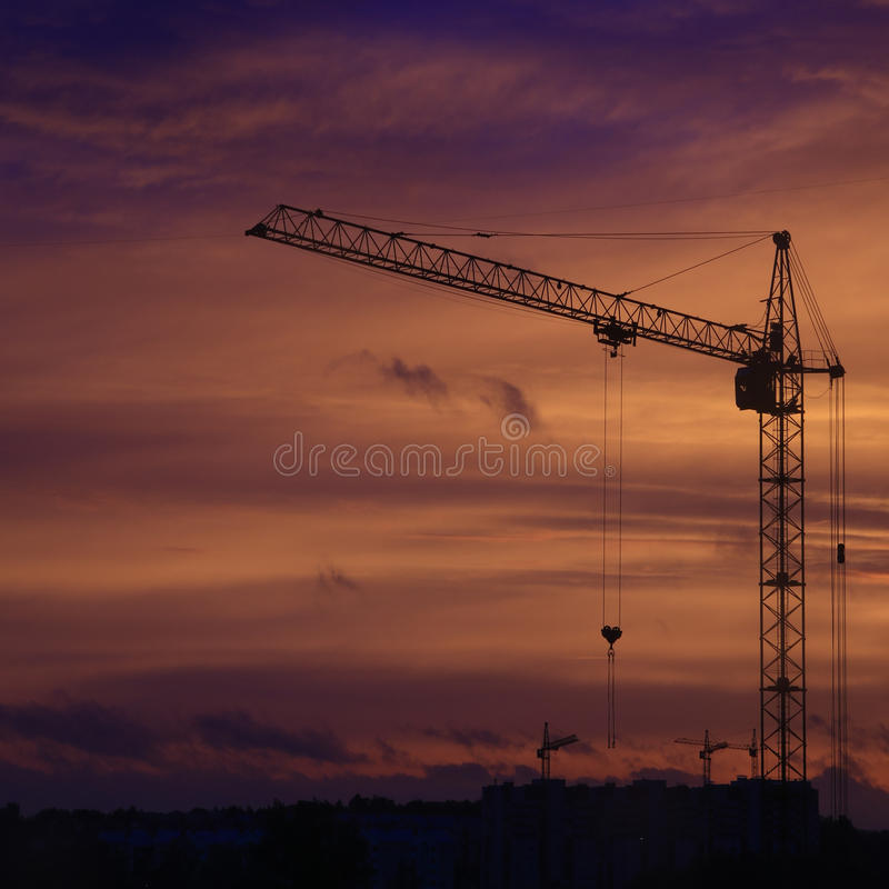 Construction site in Russia stock image