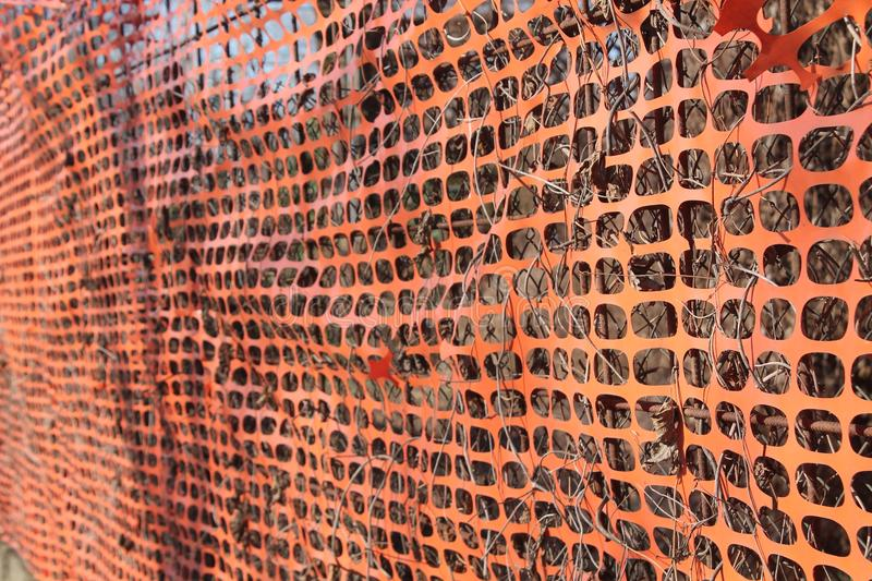 Construction site with safety orange fence. For best working protection royalty free stock images