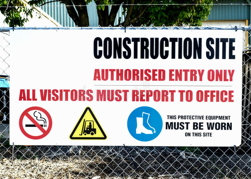 Construction Site Sign royalty free stock photography