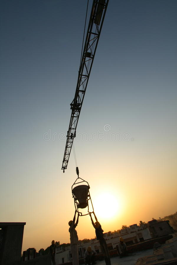 Download Construction Site Silhouette Stock Images - Image: 15598714