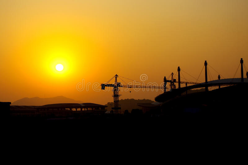 Download Construction Site Silhouette Stock Photo - Image: 22619118