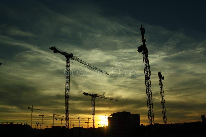Construction Site At Sunset Free Public Domain Cc0 Image