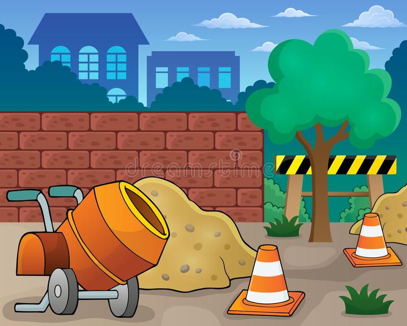 Construction site theme image 1. Eps10 vector illustration royalty free illustration