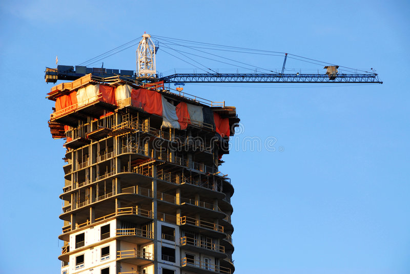 Download Construction Site Under Blue Sky Stock Photo - Image: 4885724