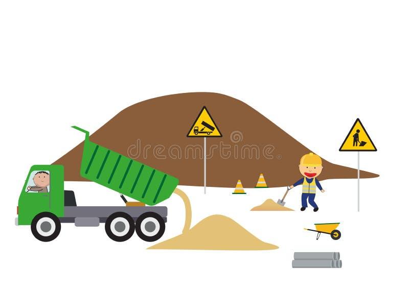 Construction site, vector illustartion vector illustration