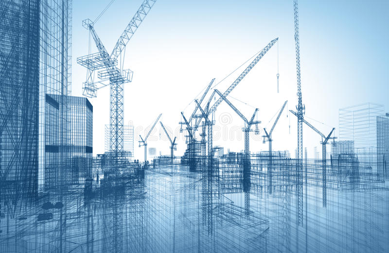 Construction site stock illustration