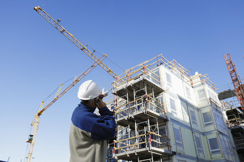 Download Construction Site With Workers Stock Image - Image: 23459431