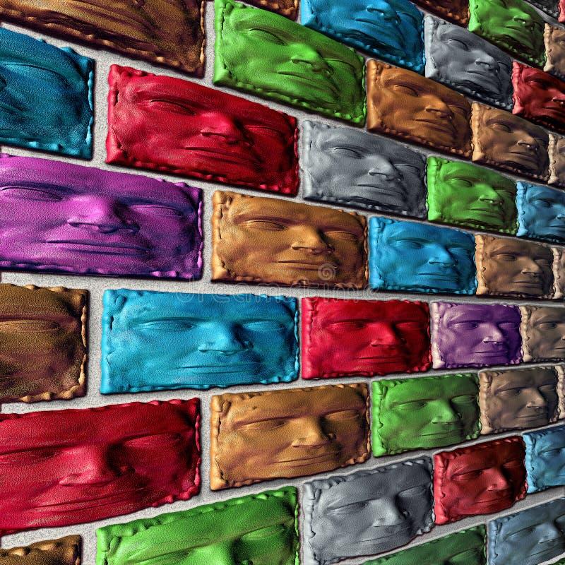 Construction sociale de mur ensemble illustration stock