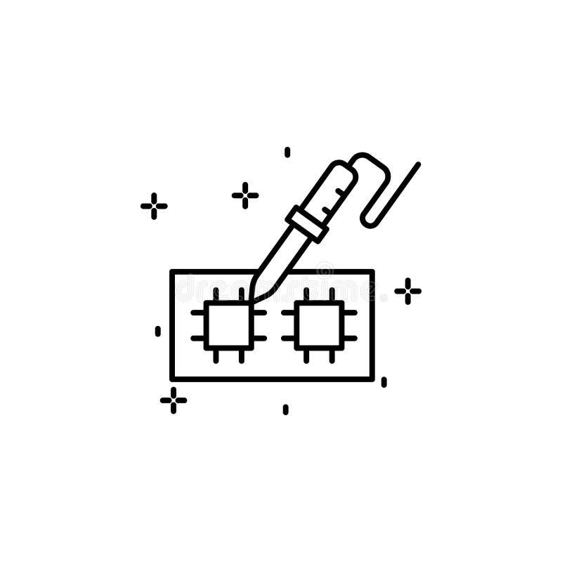soldering stock vector  illustration of illustration