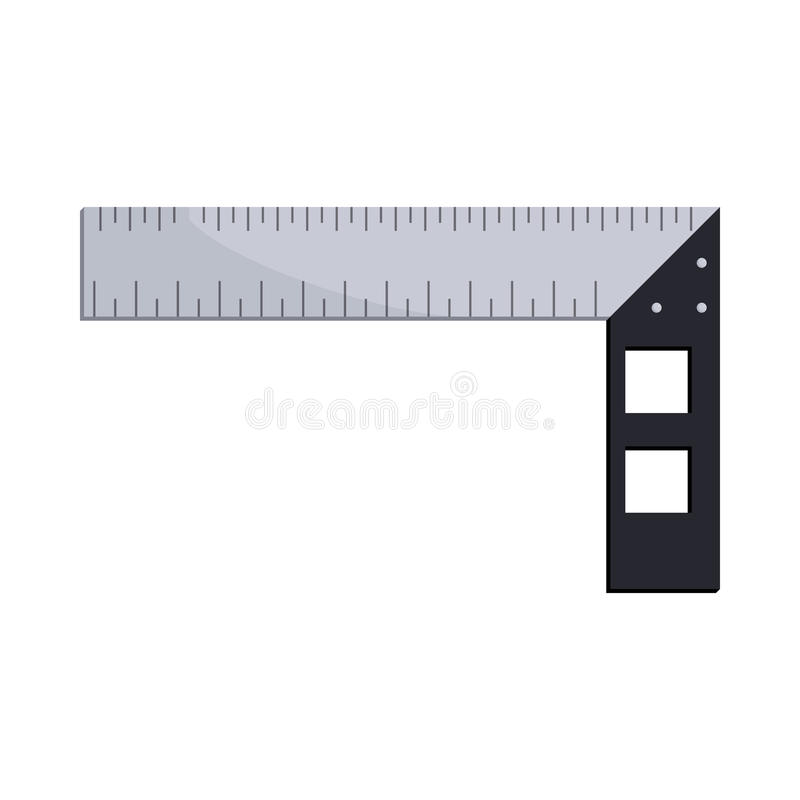 Construction square triangle icon, cartoon style. Construction square triangle icon in cartoon style on a white background stock illustration