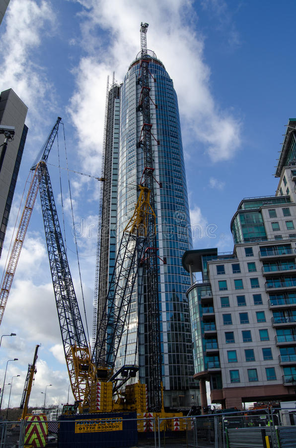 Construction Of St George S Wharf Tower Editorial Image