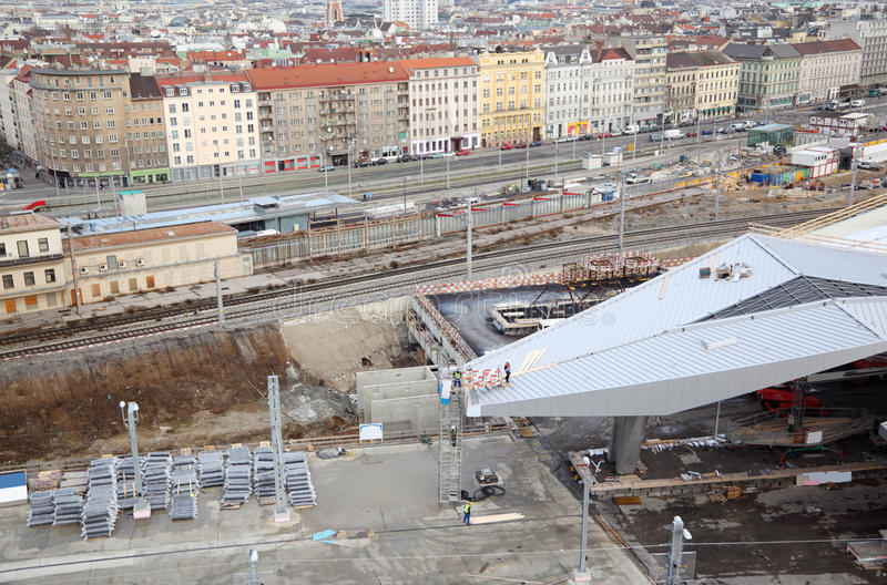 Download Construction Of Station Yard Near Rails Stock Image - Image: 27199155