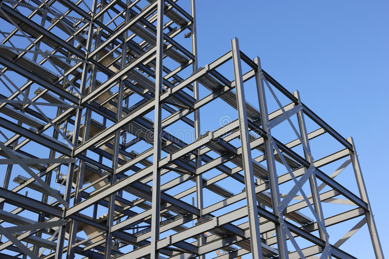 Construction Steel Framework Stock Image Image Of