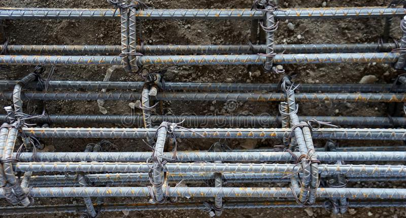Steel rods tied stock photography